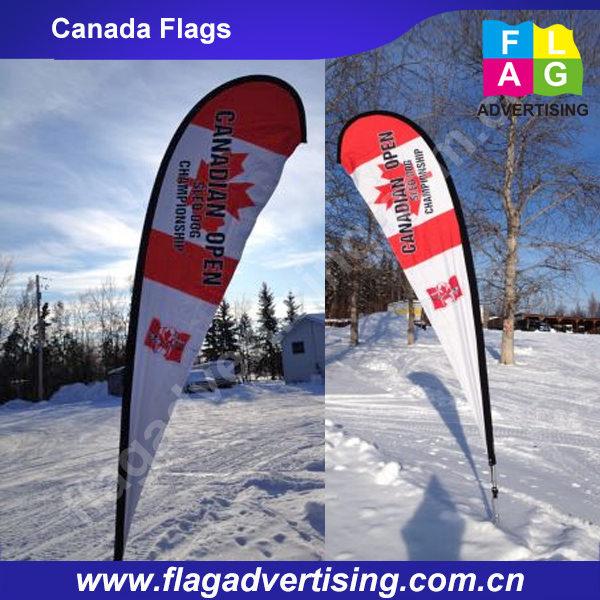 1.75m Single Sided Teardrop Flag