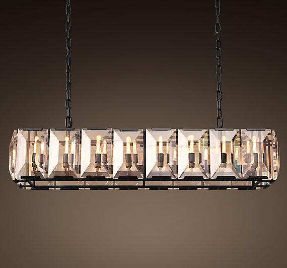 Round Square Crystal Chandelier (WHG-880)