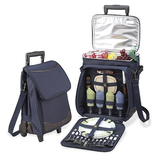 Rolling Trolley Insulated Cooler Picnic Bag Wheel Thermal Ice Picnic Bag