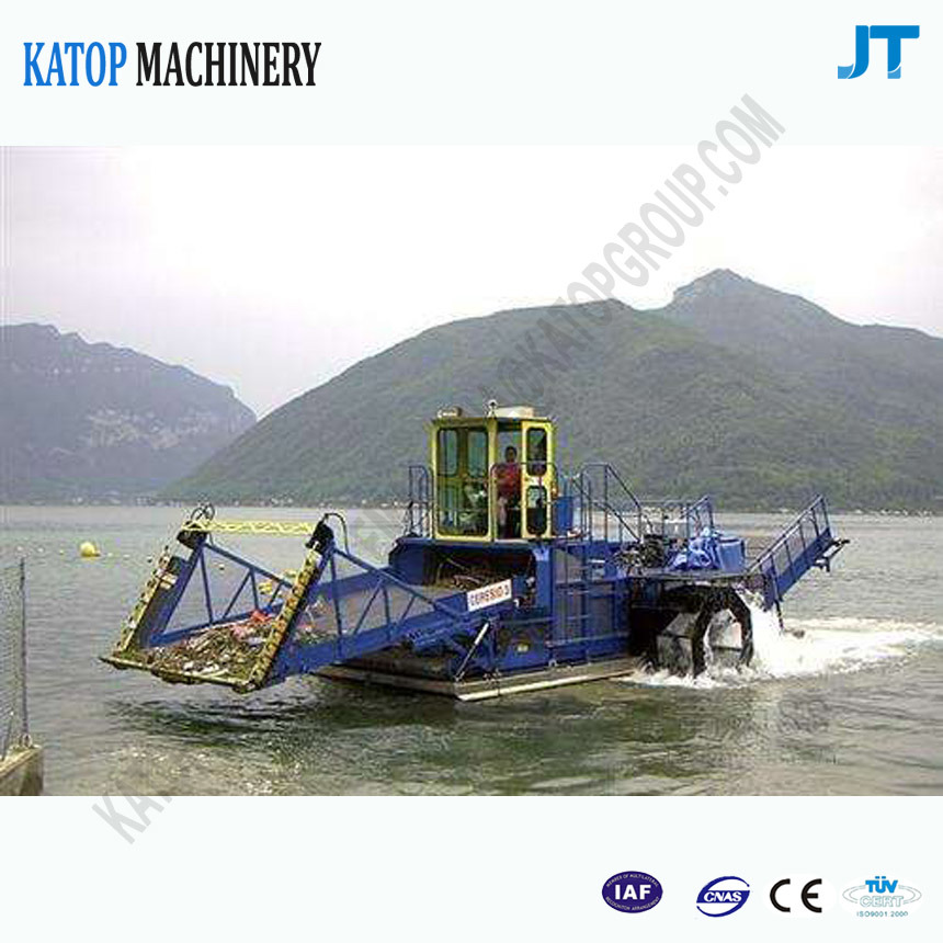 Automatic Aquatic Weed Harvester, River Cleaning Ship
