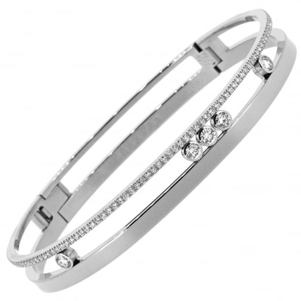 18k White Gold Diamond Jewelry Move Bracelets Wholesales