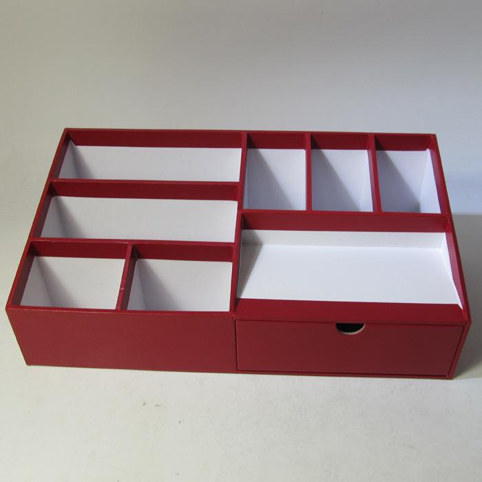 Multifunctional Paper Desktop Organizer with Drawer