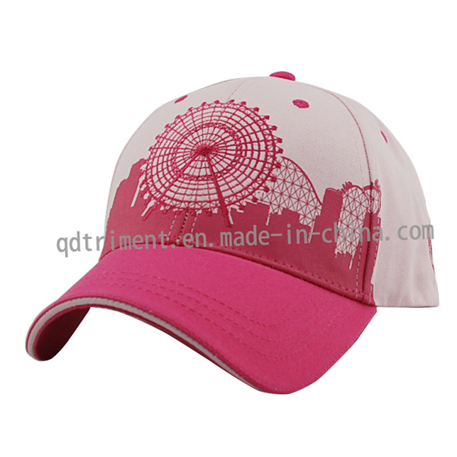 Constructed Printing Embroidery Sandwich Twill Sport Baseball Cap (TRNBC014)