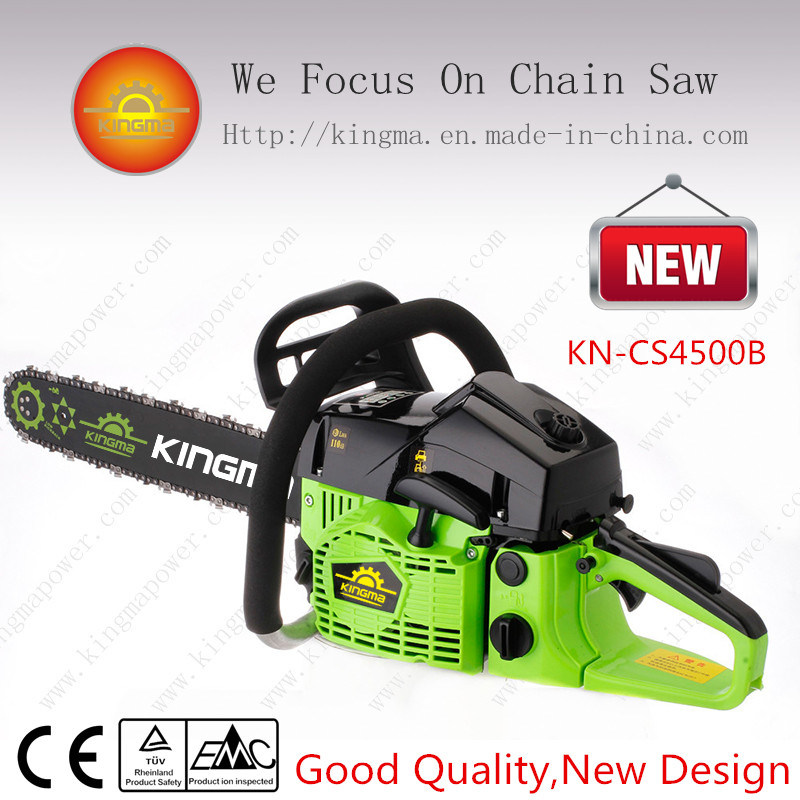 """45cc Gasoline Chain Saw with Easy Starter and 18"""" Oregon Bar and Chain (KN-CS4500B)"""