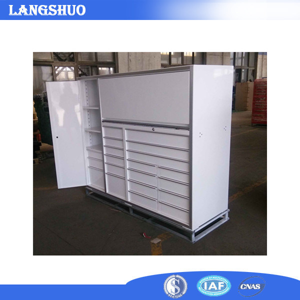 China 2017 Mobile Two Parts Cabinet Workshop Metal Tool Chest