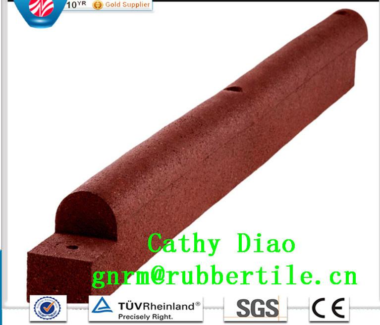 Eco-Friendly Rubber Borde/Playground Rubber Tile Garden Rubber Boarder