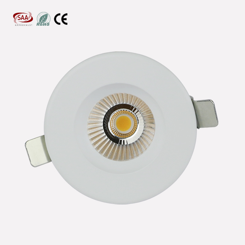 Commercial Lighting LED Lights Rating IP33 Recessed COB Down Light with 12W SCR Dimming