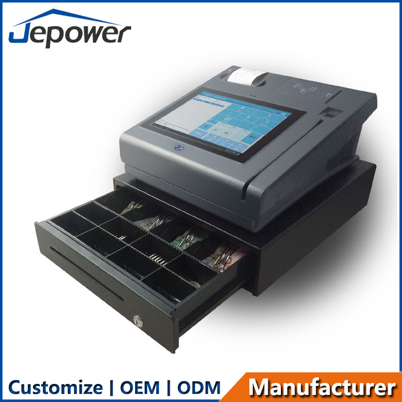 Jepower T508 Touch Screen POS System with Thermal Printer/Fingerprint/Bluetooth/Wi-Fi