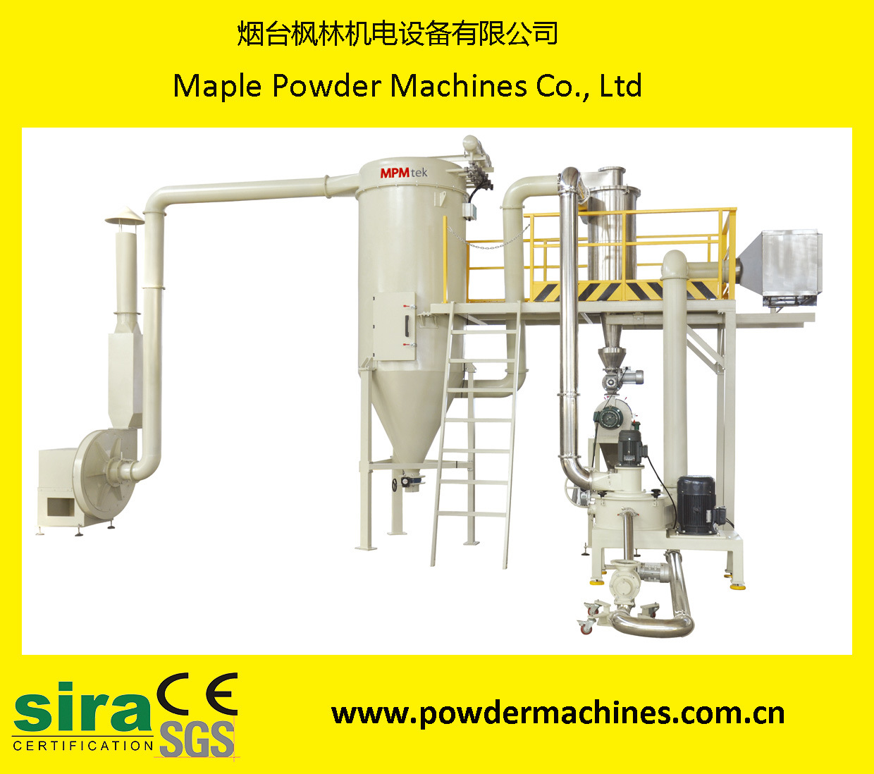 High Output Powder Coating Acm Grinding System