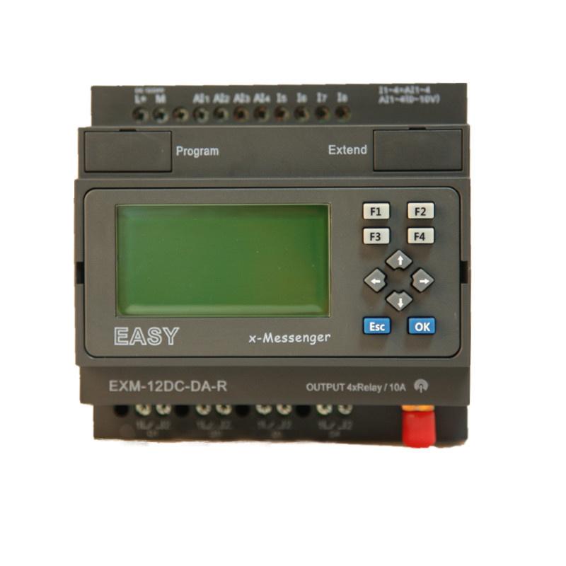 GSM/SMS/GPRS PLC, Ideal Solution for Remote Control& Monitoring &Alarming Applications (EXM-12DC-DA-R-HMI)