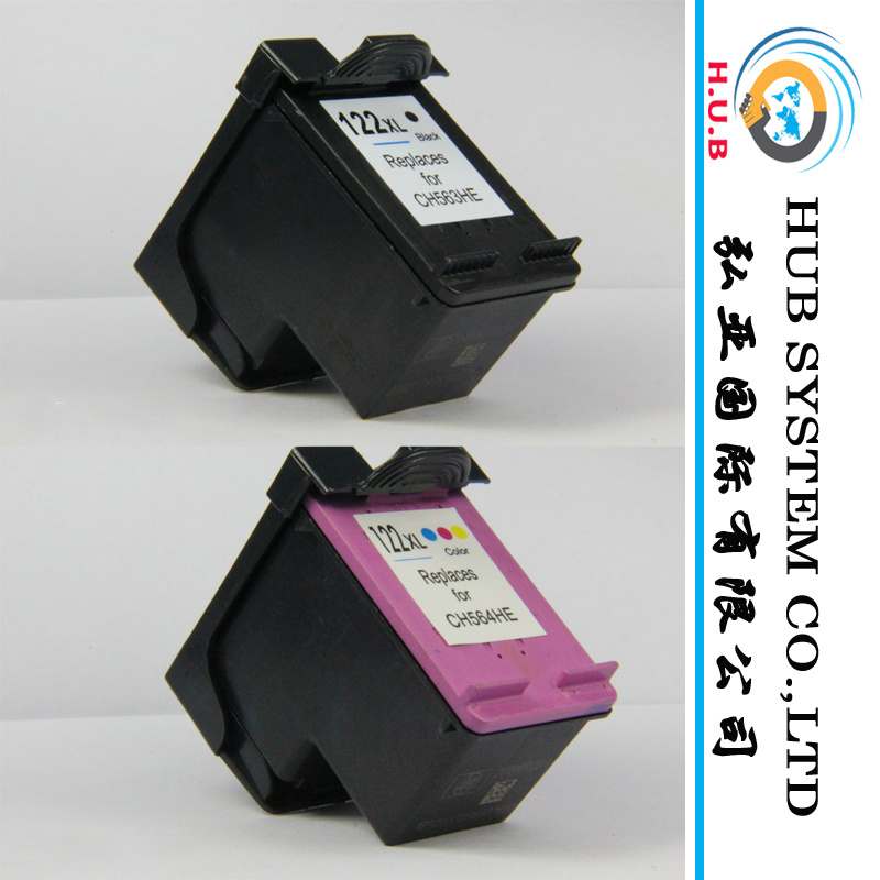 High Quality Ink Cartridge for HP 121 B (CC641H) , C (CC644H) ; HP 122 B/C;