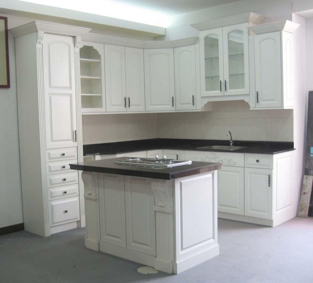 Mdf Kitchen Cabinets Price: China Semi-Gloss Melamine MDF Ktichen Cabinet (JZ002