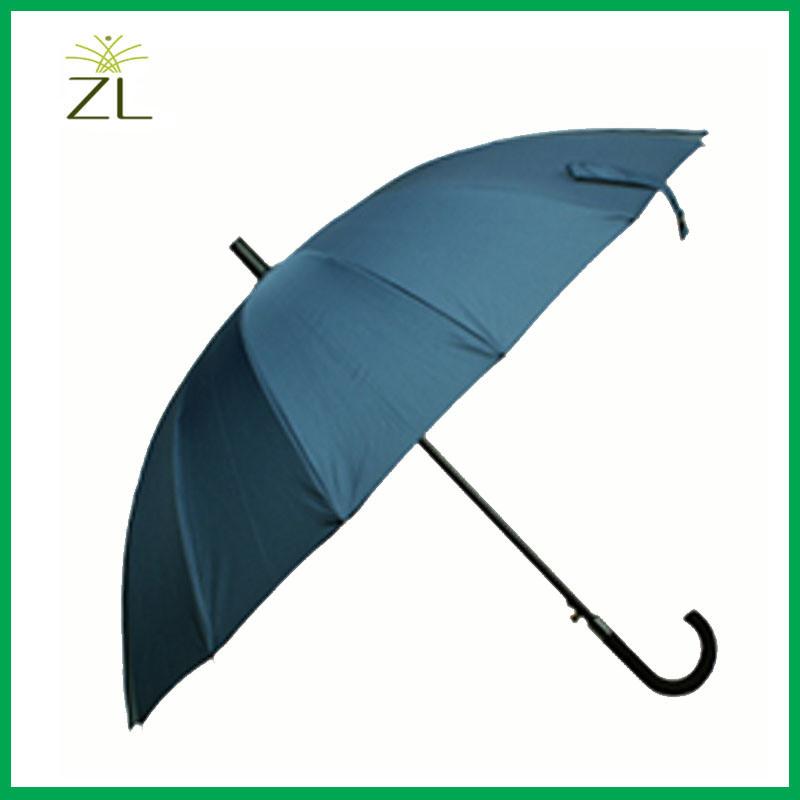 190t Pongee Fabric Material and Umbrellas Type Plain Golf Umbrella