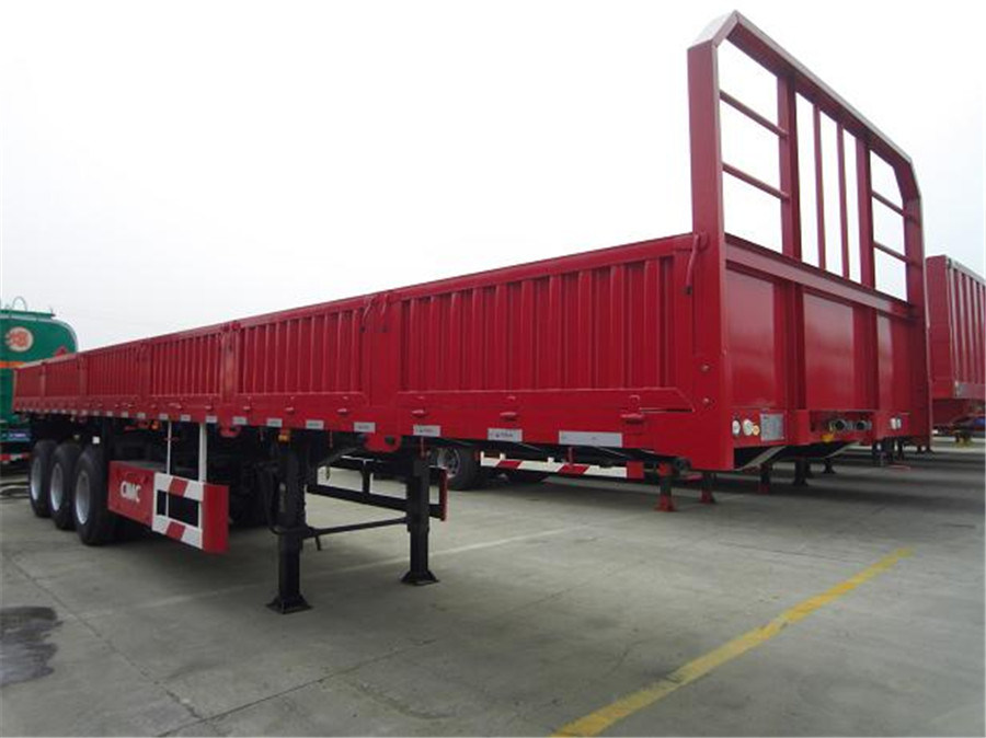 40ft 3 Axle Flat Bed Lorry Cargo Semi Trailer