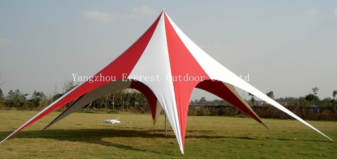 Fashionable Red White Promotion Star Canopy