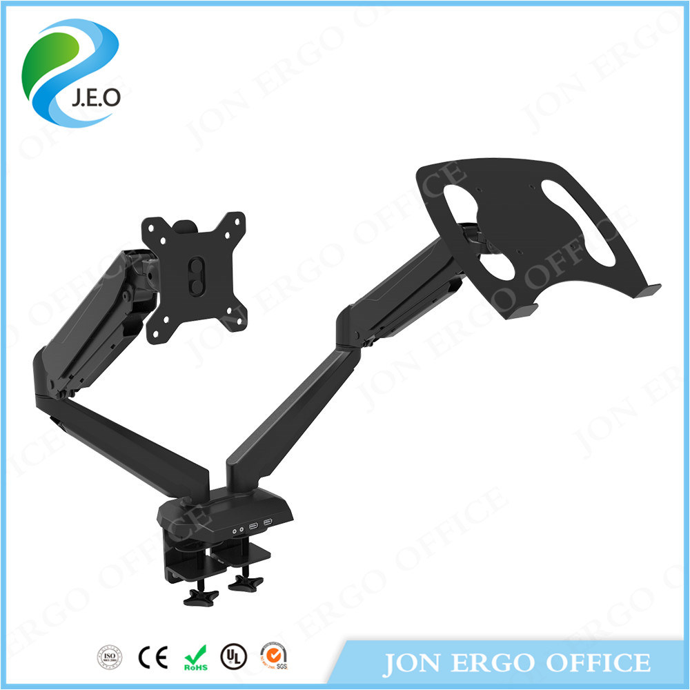 Dual Monitor Arm for Monitor and Laptop (JN-GM224U-D)