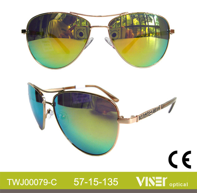 Wholesale Sunglasses Metal Fashion Sunglasses (79-C)