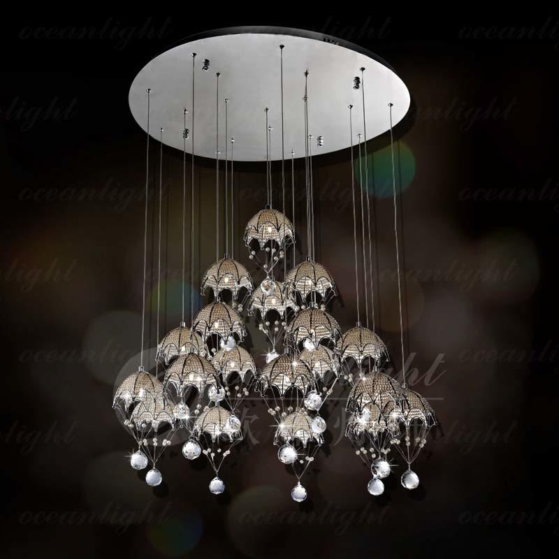 Russian crystal ceiling chandelier OM8921-19B