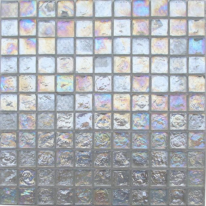Iridescent Glass Mosaic Tiles (TR00)