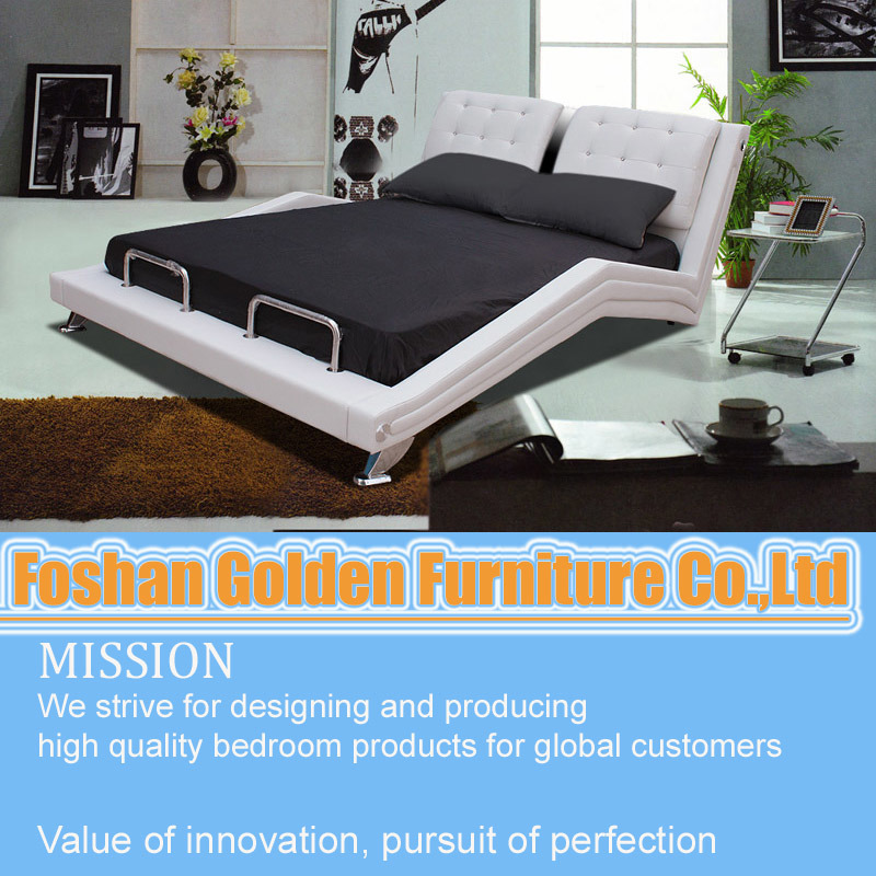 China High Quality Home Furniture Indian Double Bed Designs