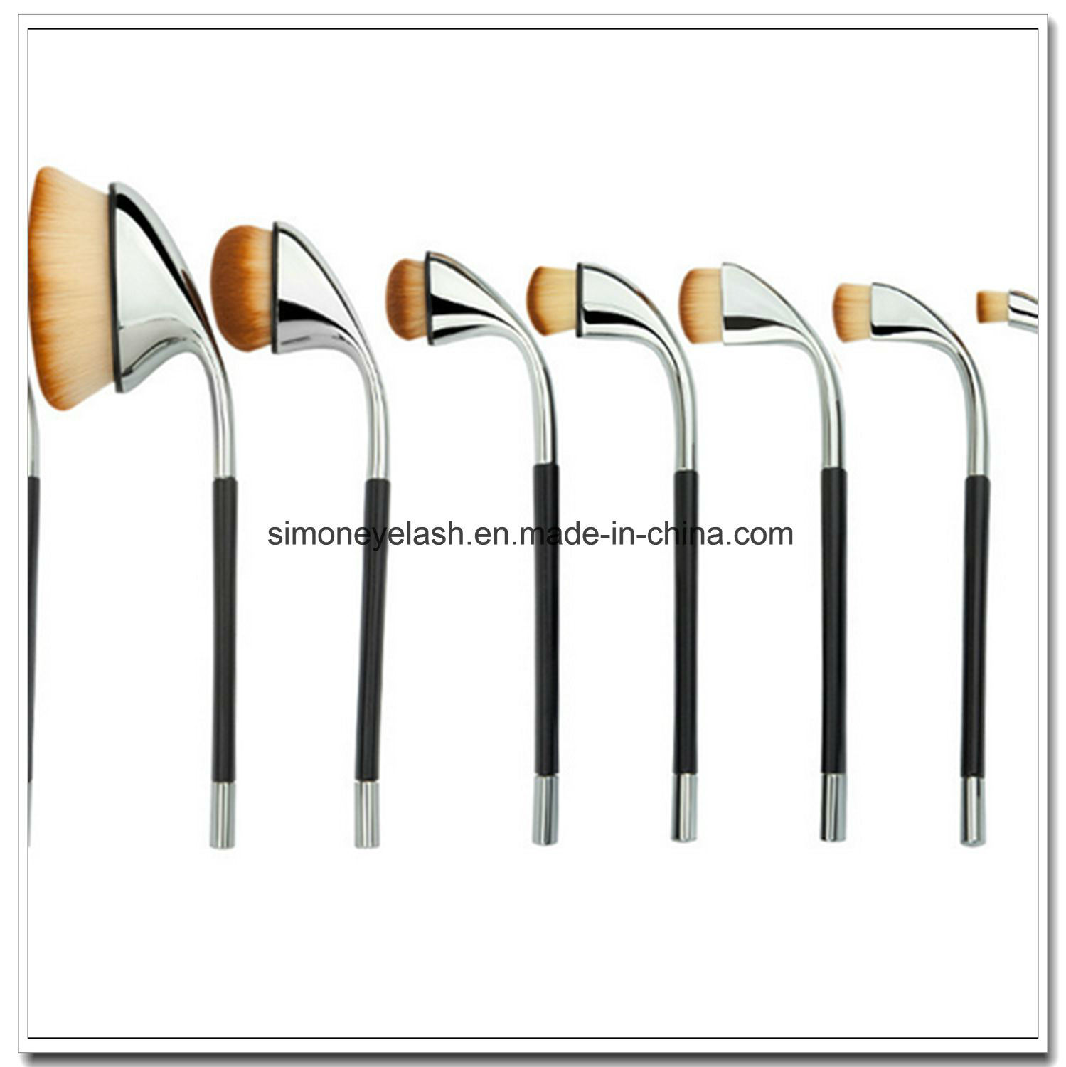 Beauty Equipment Golf Shape Makeup Brush for Make up Artist