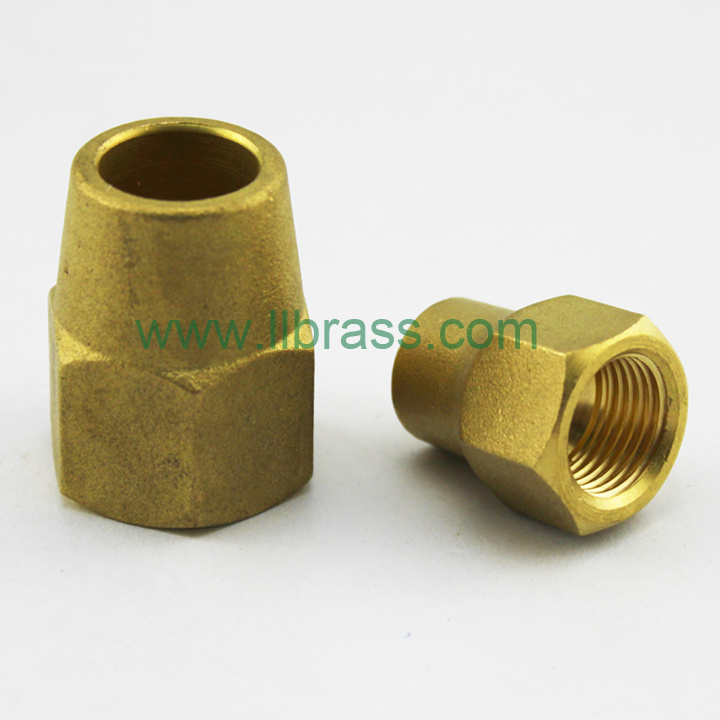 China brass inverted flare female adapter
