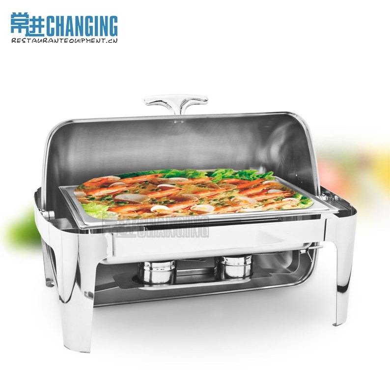 Food Warmers For Transporting Food ~ China l deluxe oblong roll top stainless steel chafing