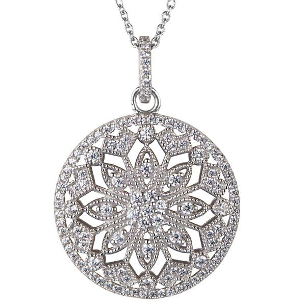 Full Diamond Gold Jewelry 925 Silver Micro Setting Pendants Jewellery