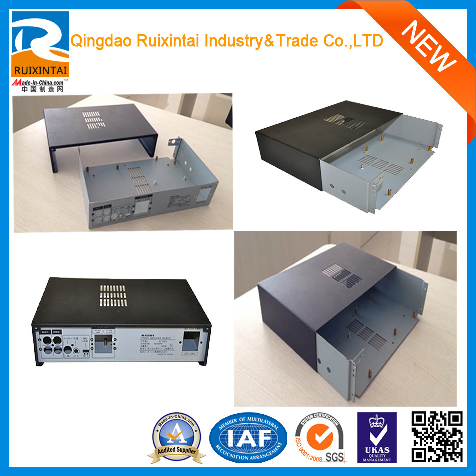 Qingdao Custom White Rectangle Locking Riveting Communication Equipment Metal Cabinet, Sheet Metal Box, Metal Fabrication