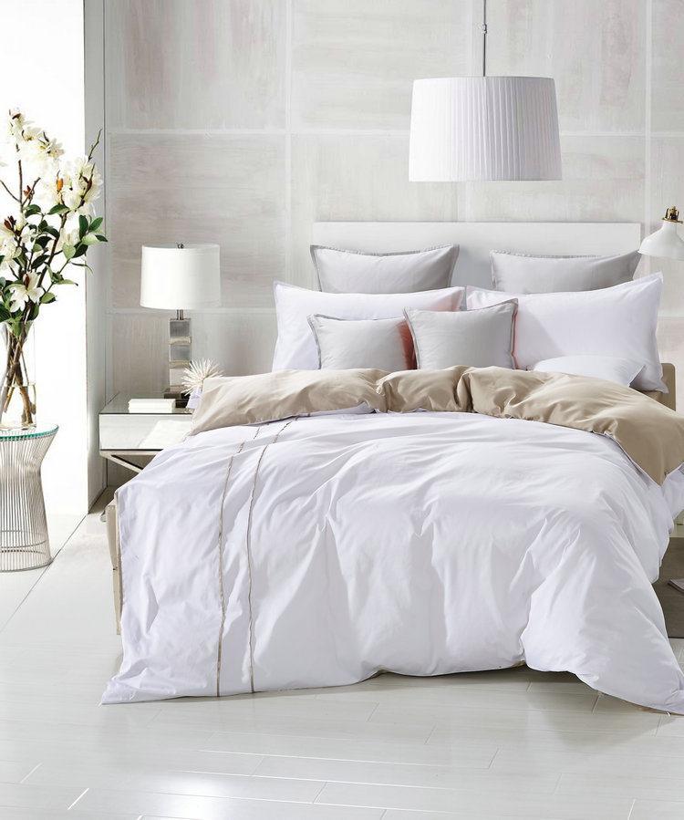 White Full Cotton Quilting Bedding Set