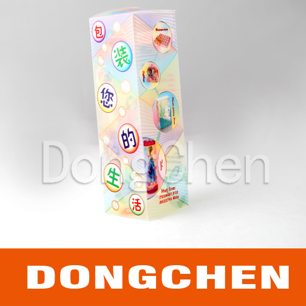 Color Folding Plastic Printed Box Package