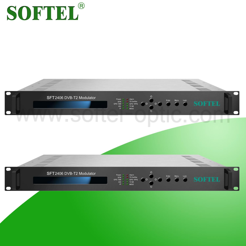 Softel DVB-T2 Modulator, CATV Headend Modulator/4 Channels RF Modulator
