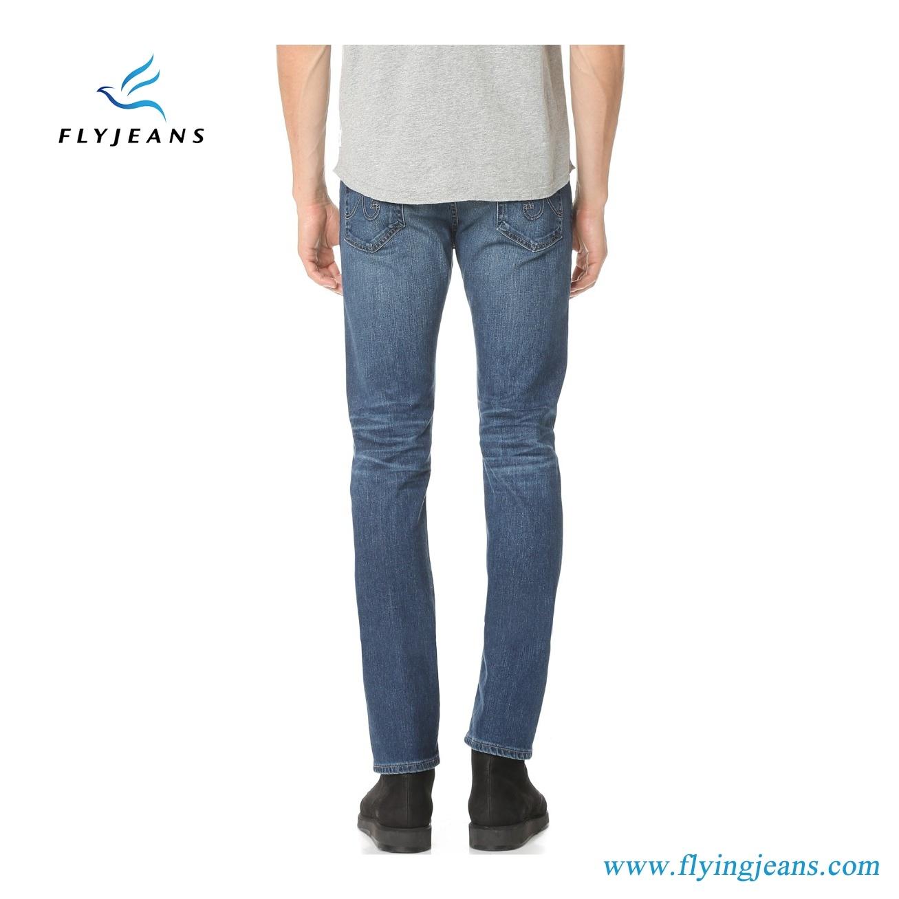 2017 Latest Fashion Blue Stretch Denim Ripped Men Jeans (Pants E. P. 4129)