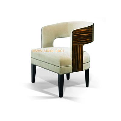 (CL-1126) Luxury Hotel Restaurant Furniture Wooden Dining Armchair