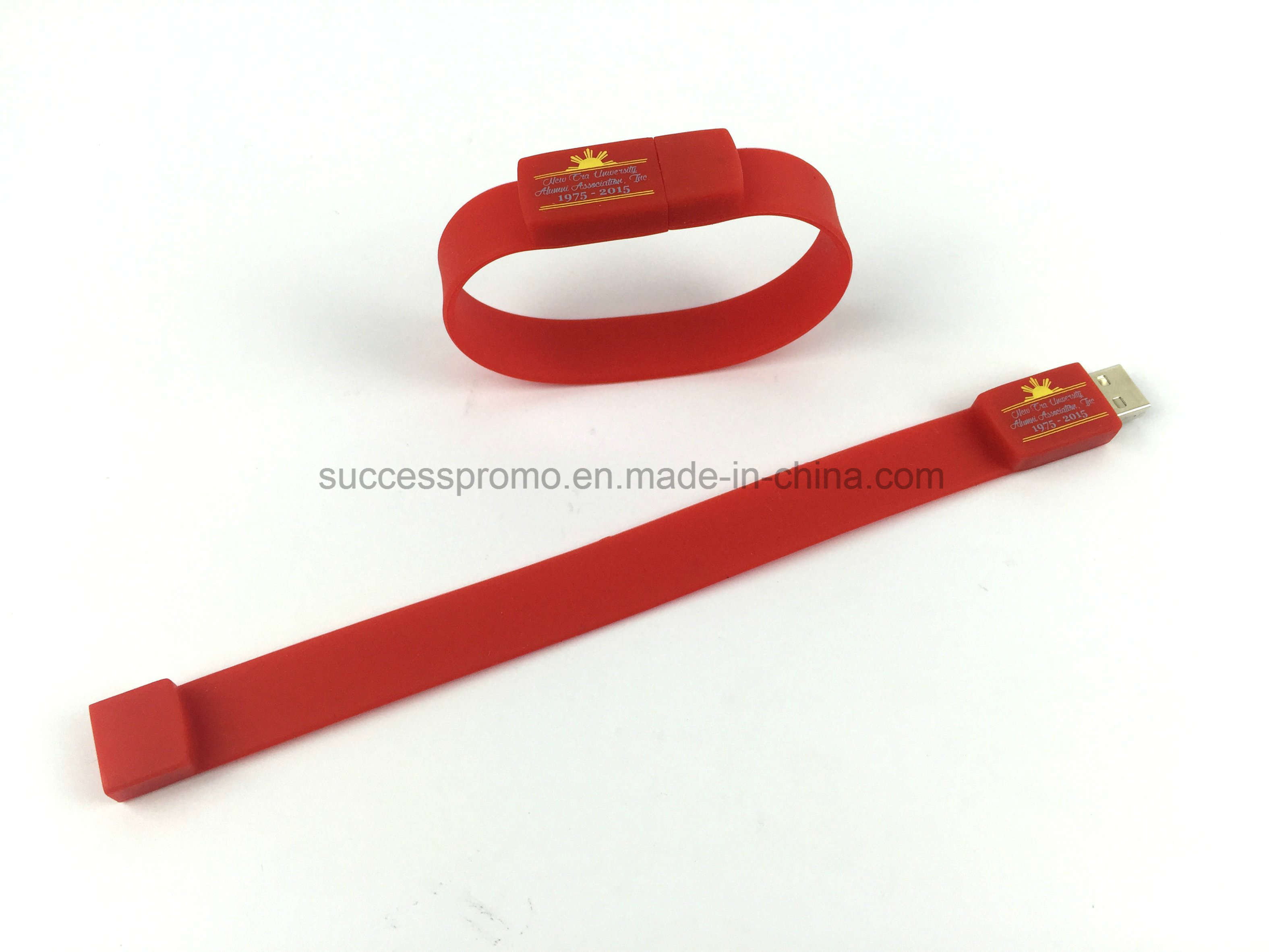 2017 Promotional Waterproof Silicone Bracelet USB Flash Drive