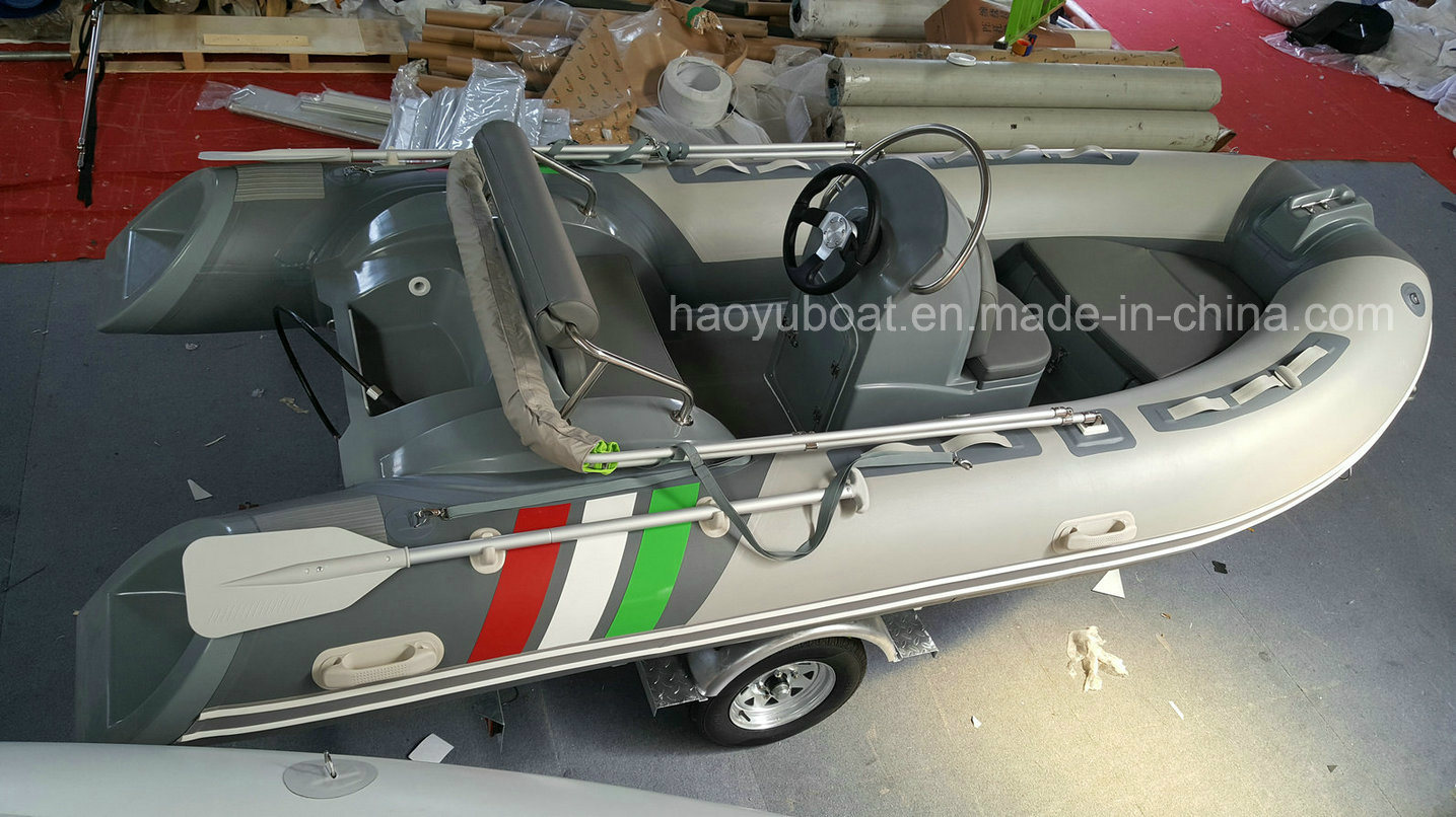 13.12FT Rib Boat, Inflatable Fiberglass Boat, Sport Fishing Boat, Rib390c