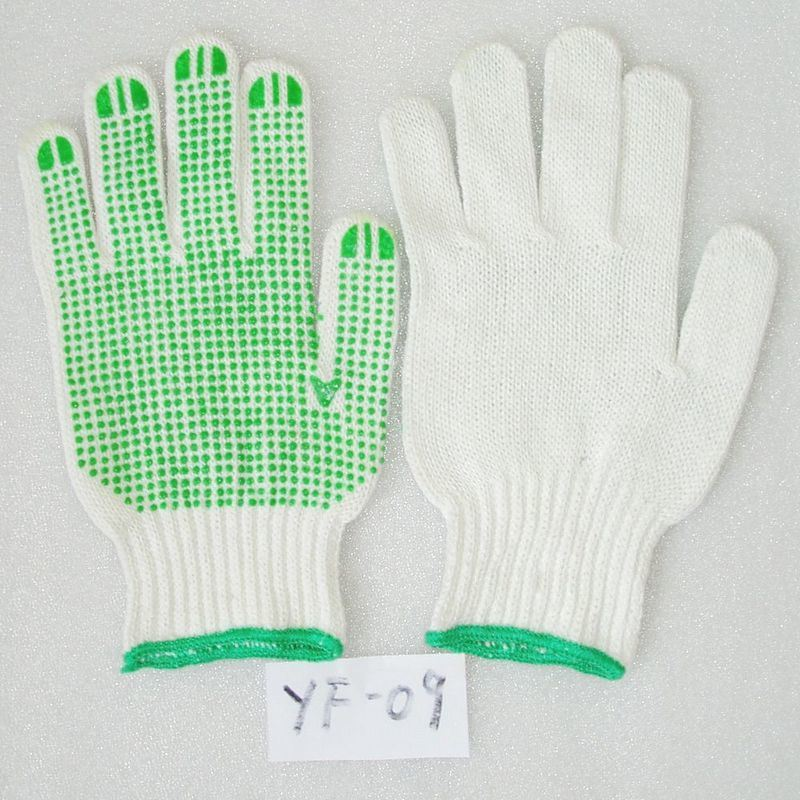 Industrial Nylon Knitted PVC DOT Working Labor Glove (JMC-409M)