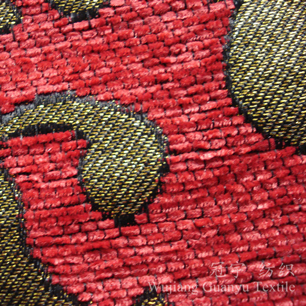 Upholstery Chenille Fabric 100% Polyester Yarn Dyed for Home