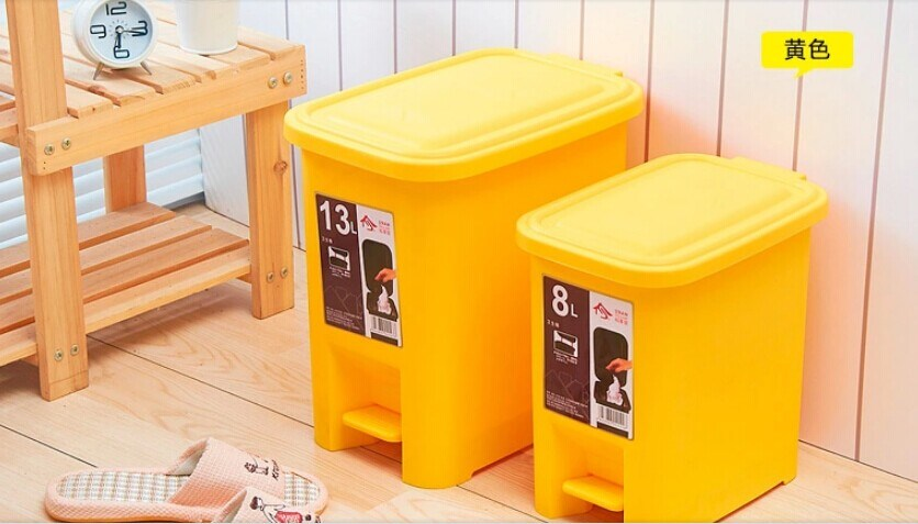 Suzhou Manufacturer of 13L Plastic Waste Bins with Pedal