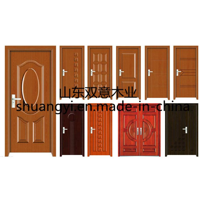 PVC Veneer Painting Coated Interior Wooden Doors