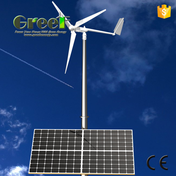 Solar and Wind Turbine Hybrid System
