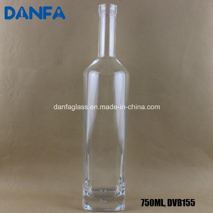 750ml Square Shoulder Glass Vodka Bottle (DVB128)