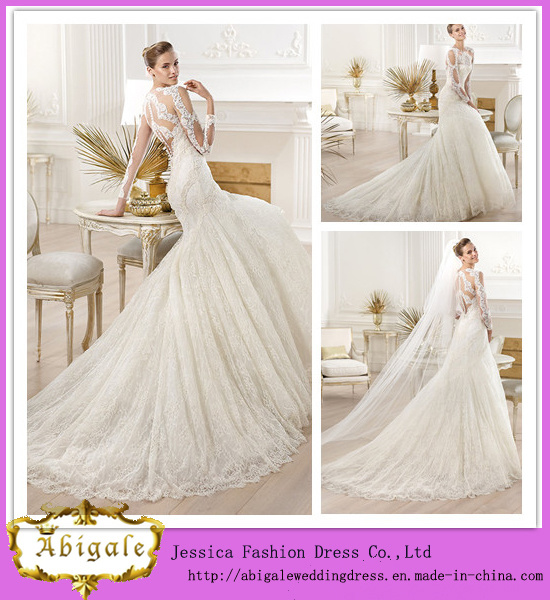 China 2014 brand name new styles floor length mermaid long for Brand name wedding dresses