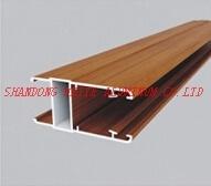 China Powder Coating Wood Grain Anodized Aluminium Extrusion Profile for Window Door Industry