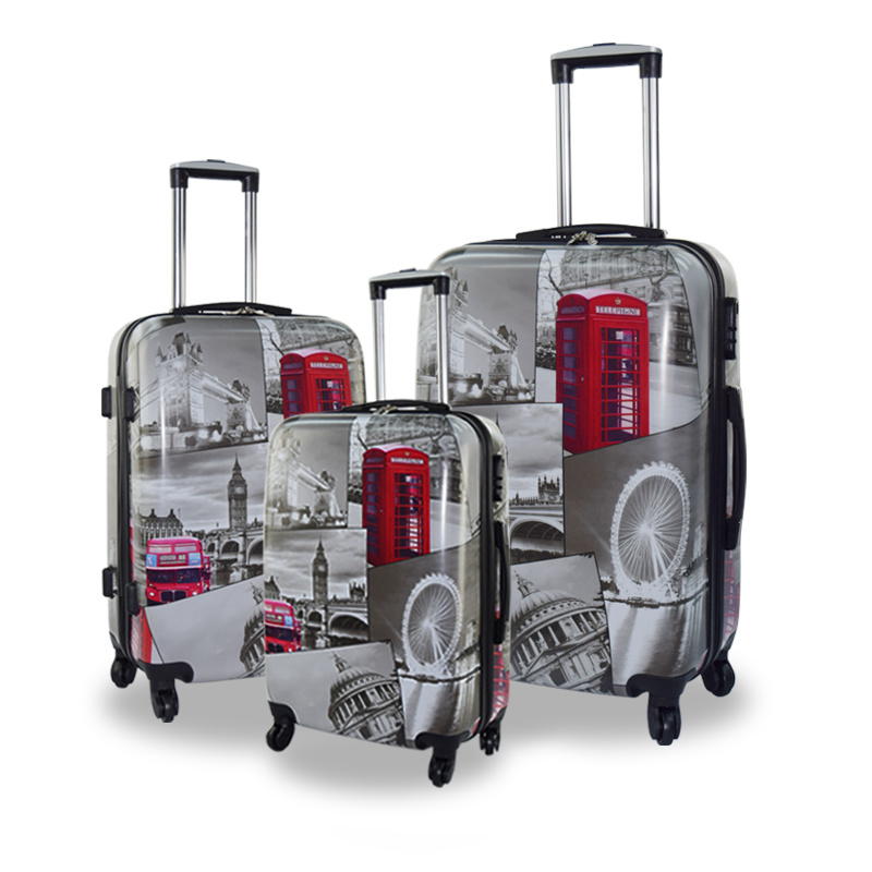 OEM Printing Service Fashion PC Trolley Travel Luggage