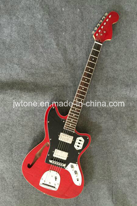 Hollow Body F Hole Flamed Maple Top Quality Custom Electric Guitar