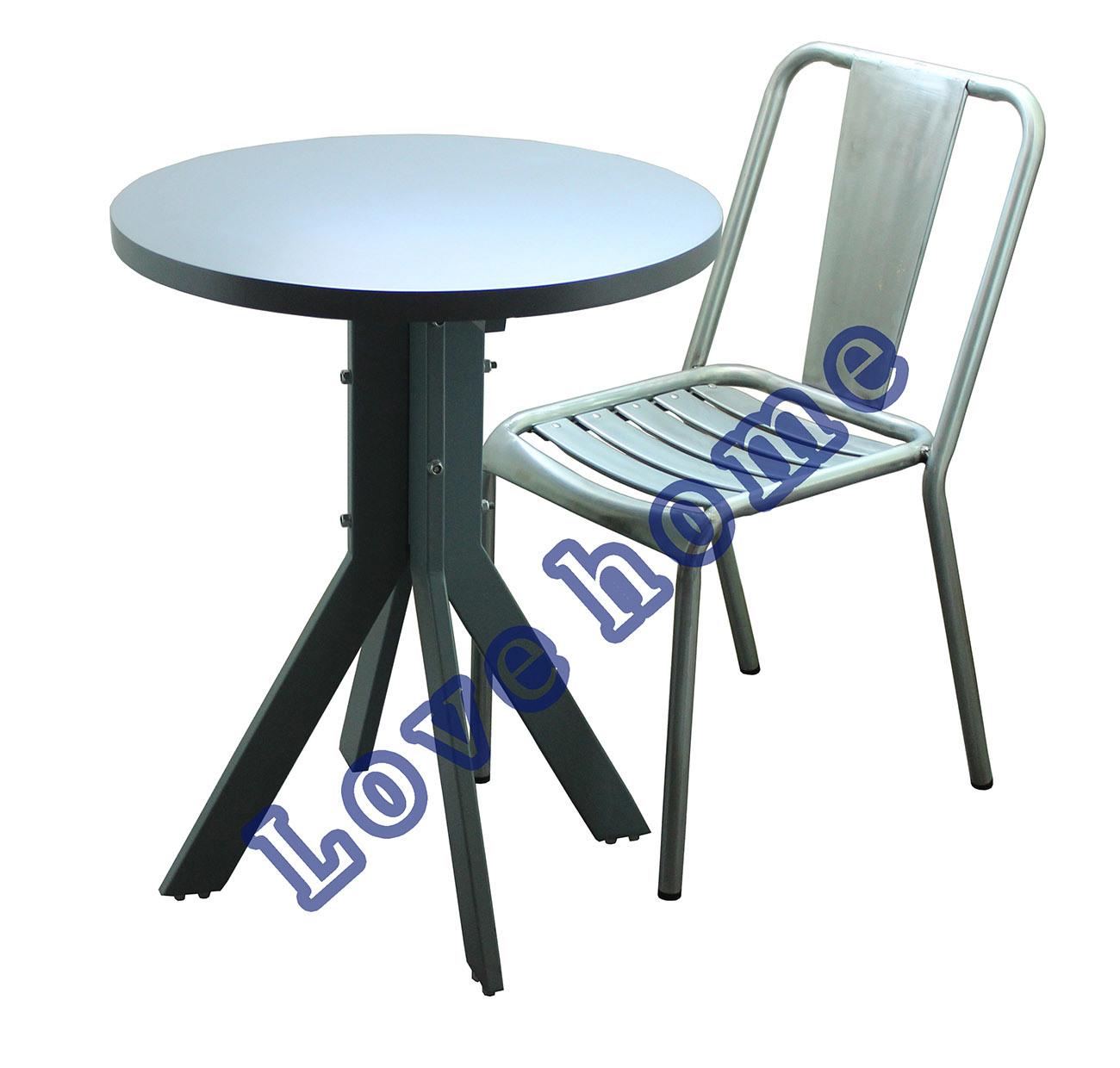 Modern Dining Restaurant Metal Leg Wooden Table