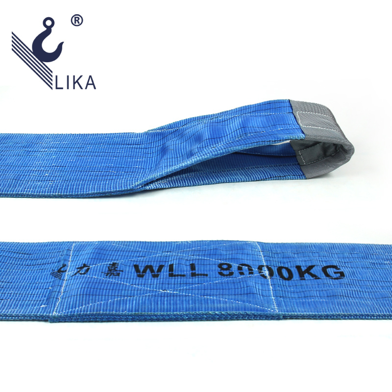 Ce GS Certificated 100% Polyester 8t Flat Webbing Sling