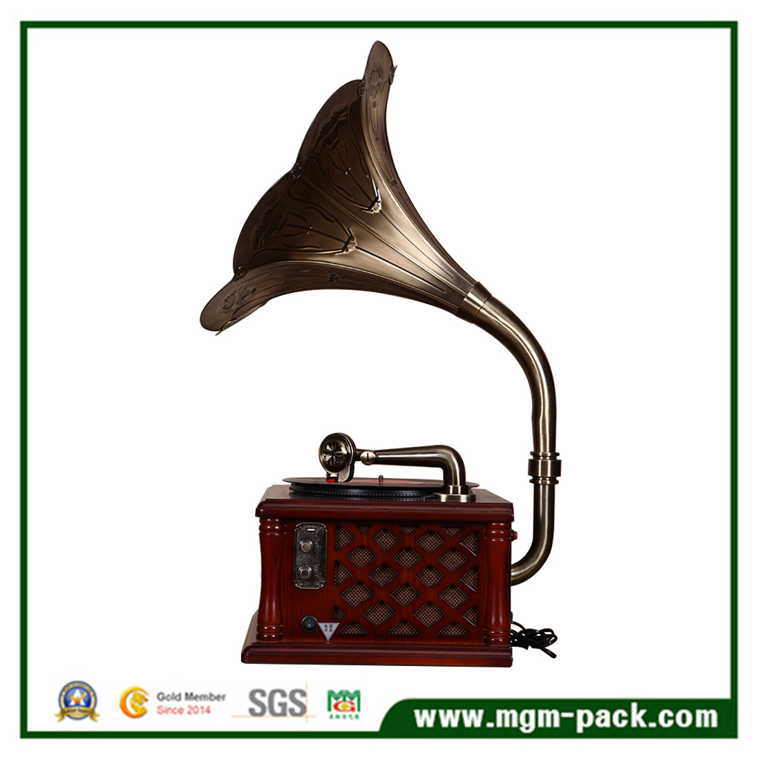 Creative Design Gramophone with Copper Horn