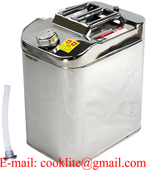304 Stainless Steel Jerry Can 30L Water/Fuel Storage Motorbike Boat 4WD